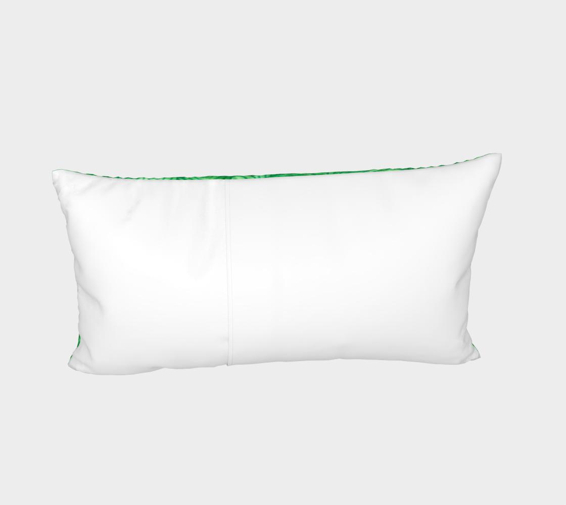 Bright green swirls doodles Bed Pillow Sham preview #4