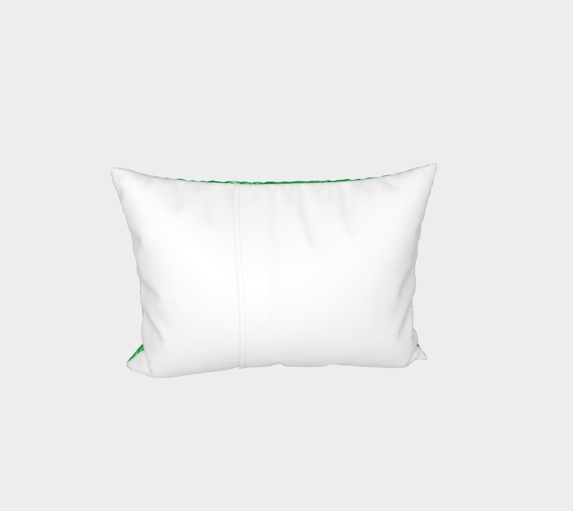 Bright green swirls doodles Bed Pillow Sham preview #3