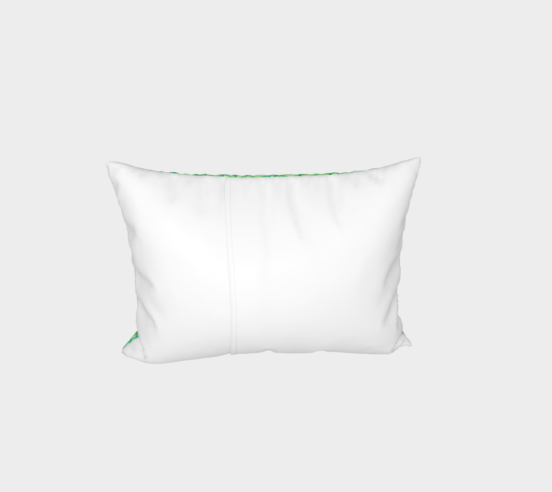 Green foliage watercolor Bed Pillow Sham thumbnail #4