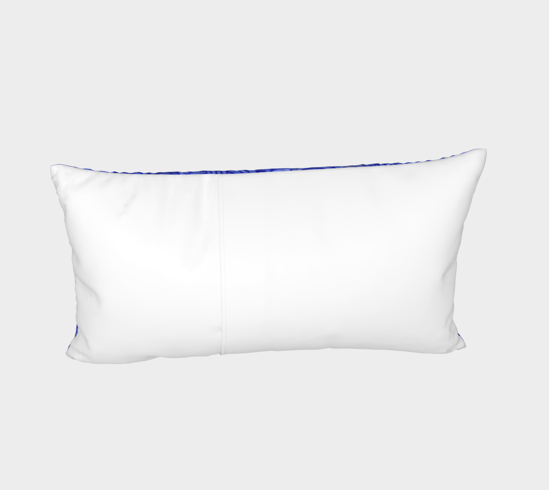 Royal blue swirls doodles Bed Pillow Sham preview #4