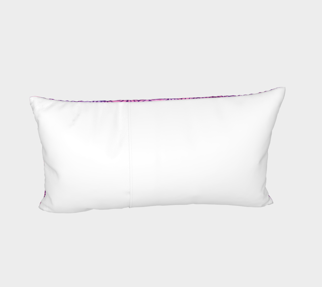 Neon purple and pink swirls doodles Bed Pillow Sham preview #4