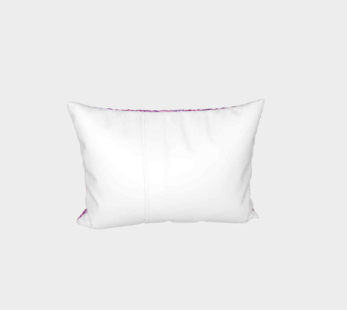 Neon purple and pink swirls doodles Bed Pillow Sham preview #3