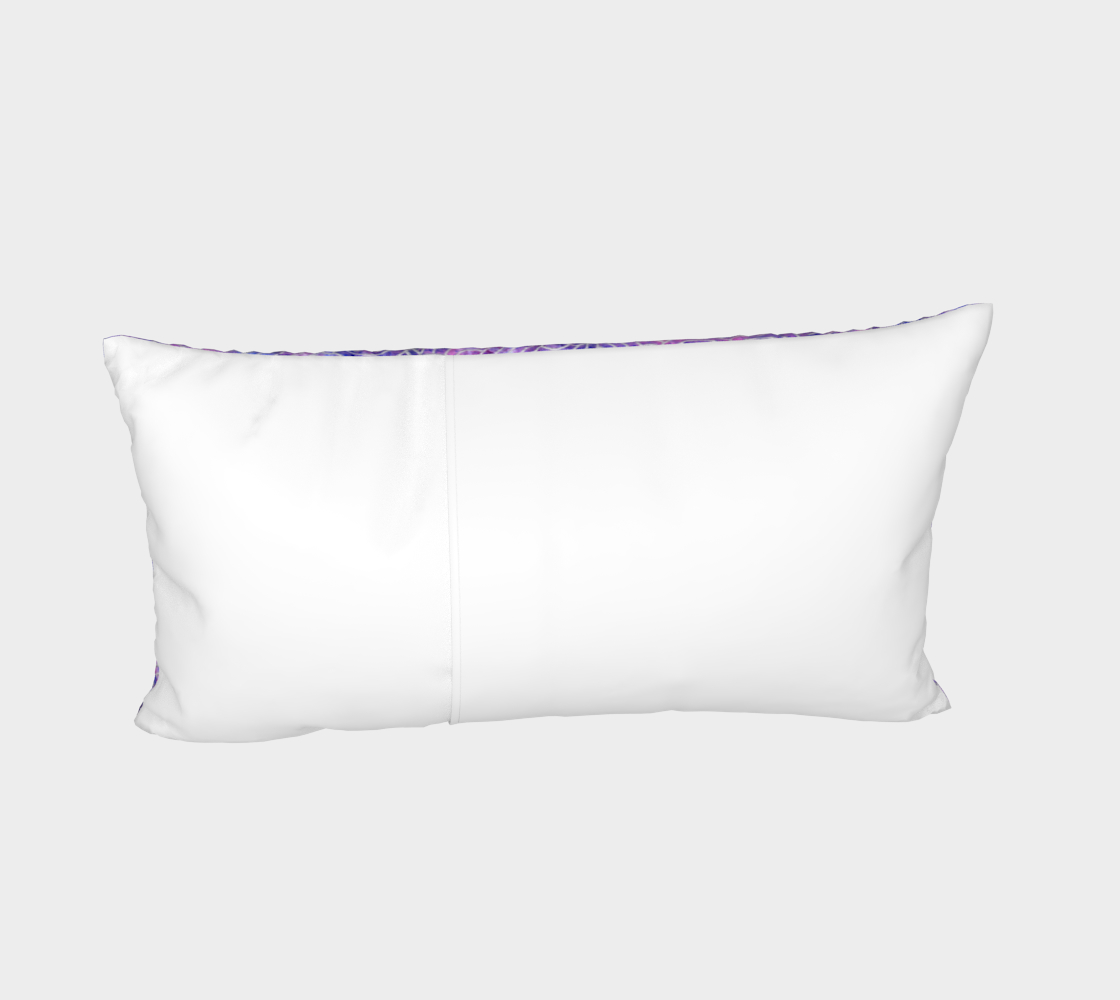 Purple and faux silver swirls doodles Bed Pillow Sham preview #4