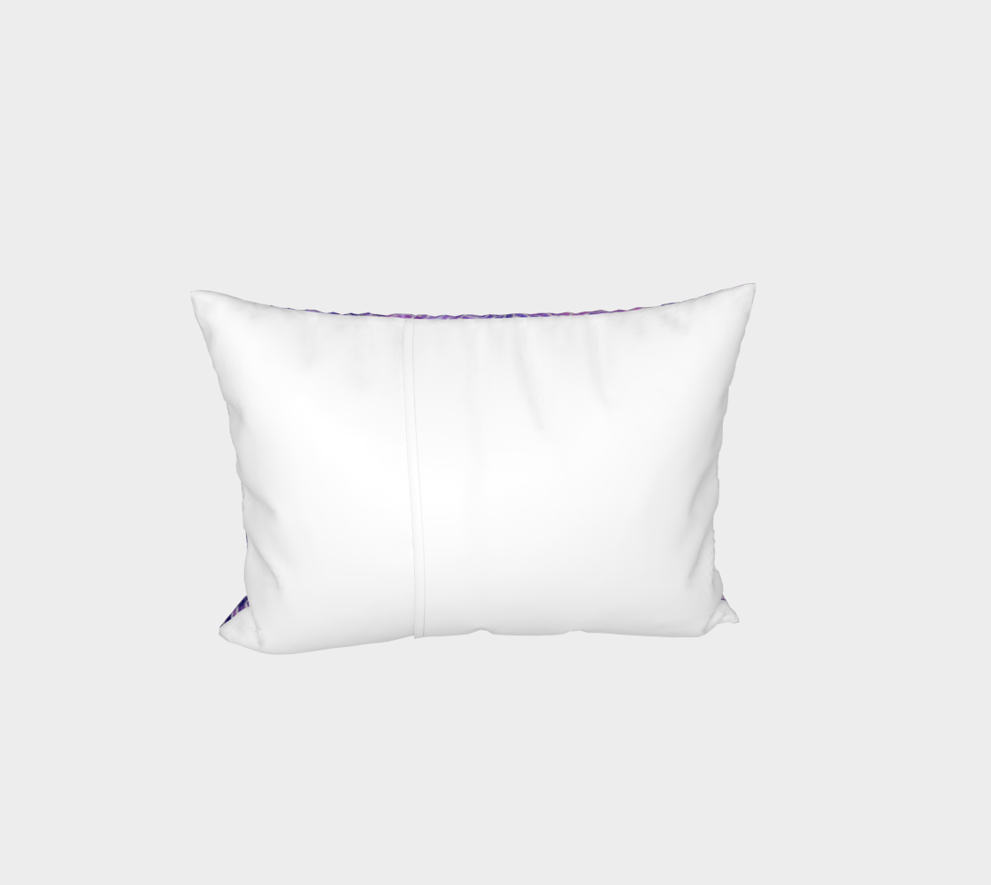 Purple and faux silver swirls doodles Bed Pillow Sham preview #3