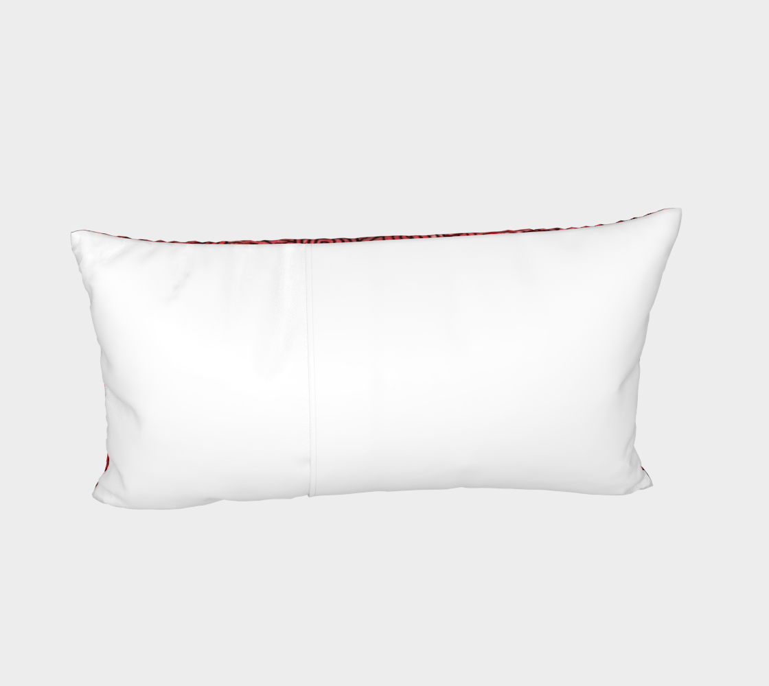 Red and black swirls doodles Bed Pillow Sham preview #4