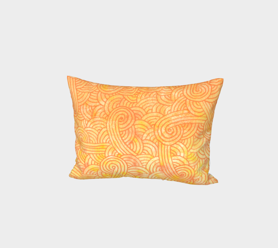 Yellow and orange swirls doodles Bed Pillow Sham preview