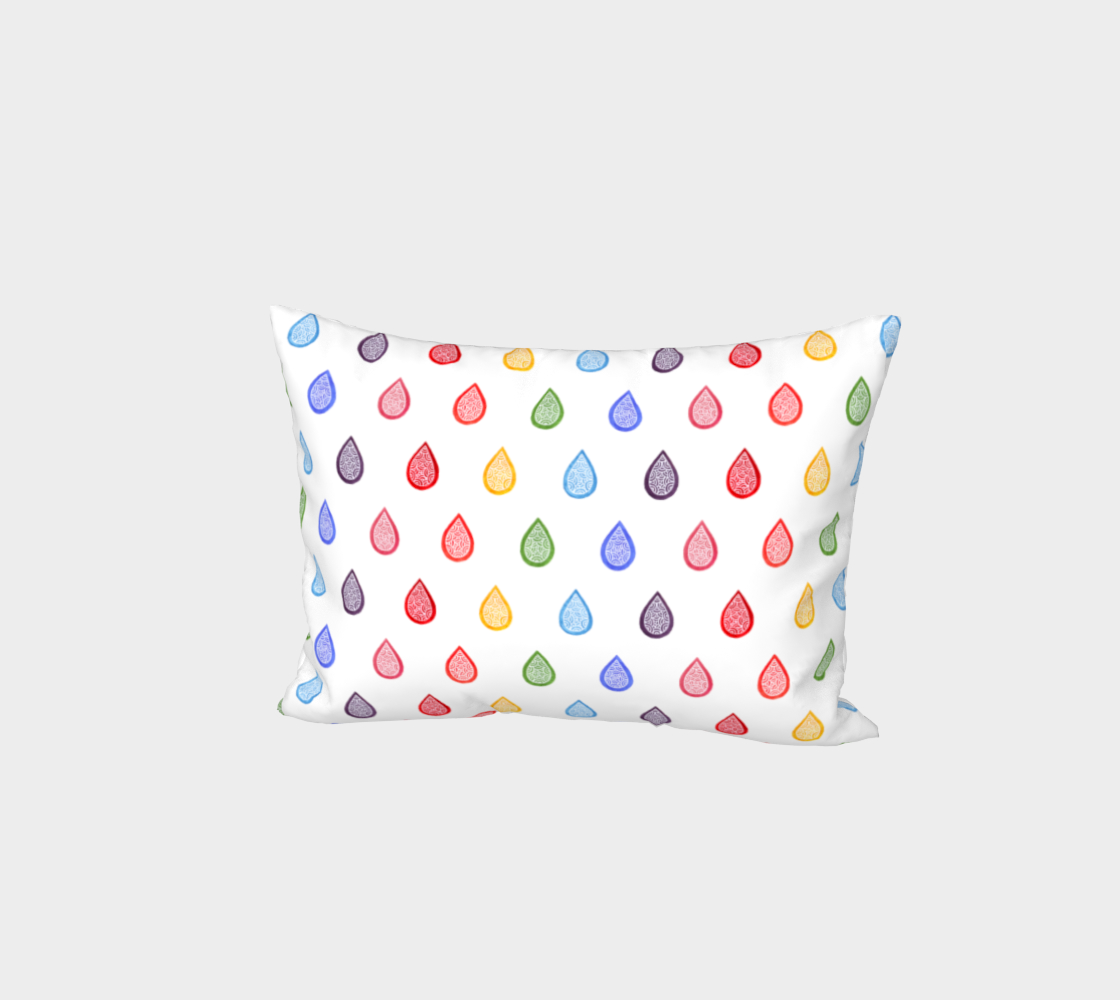 Rainbow raindrops Bed Pillow Sham preview