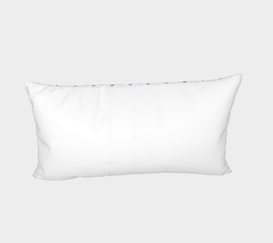 Blue raindrops Bed Pillow Sham thumbnail #5