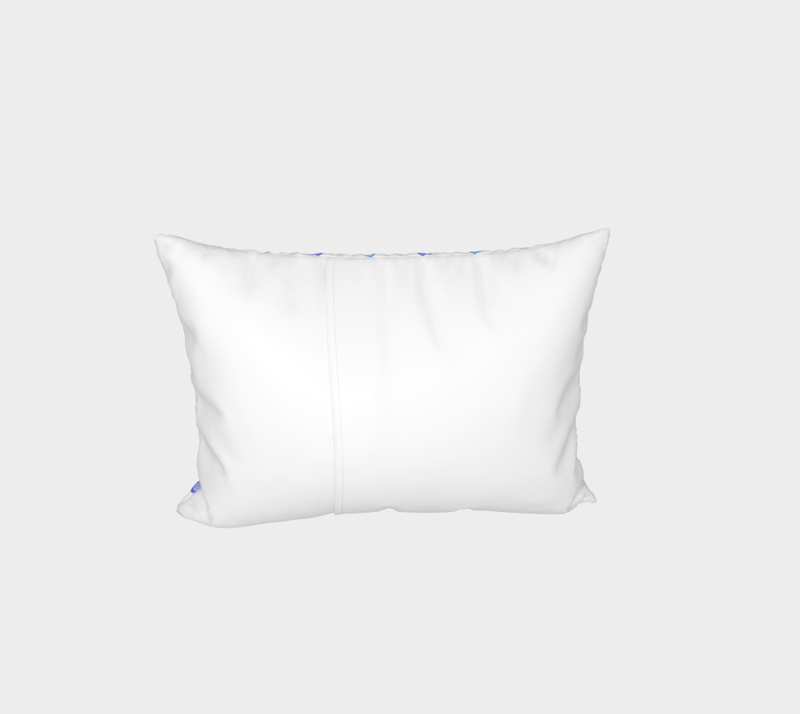 Blue raindrops Bed Pillow Sham thumbnail #4