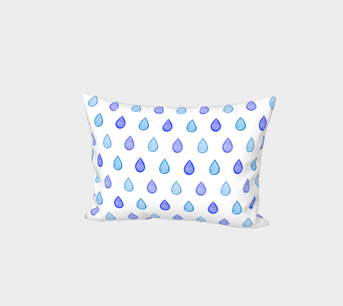 Blue raindrops Bed Pillow Sham thumbnail #2