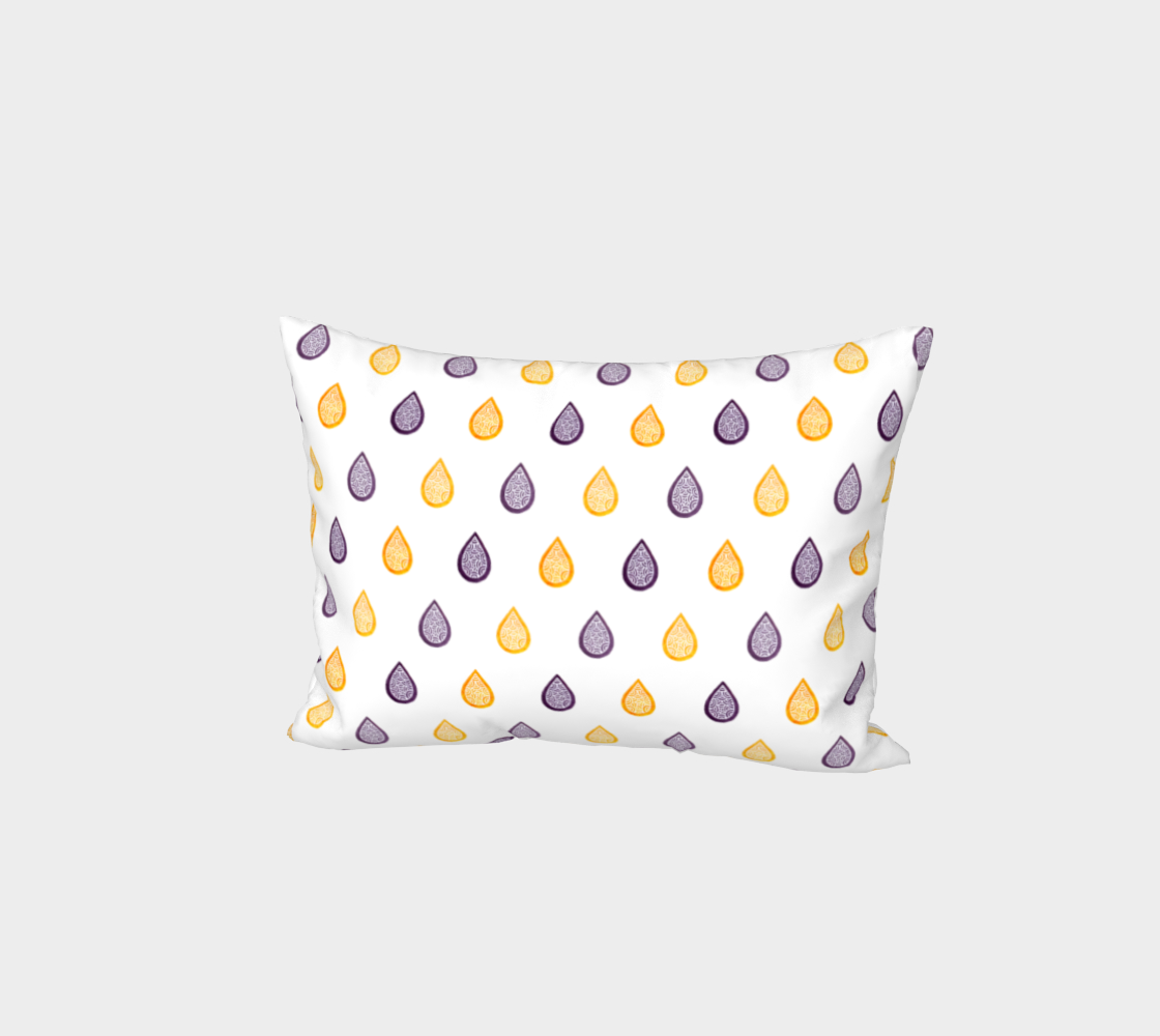 Purple and yellow raindrops Bed Pillow Sham preview