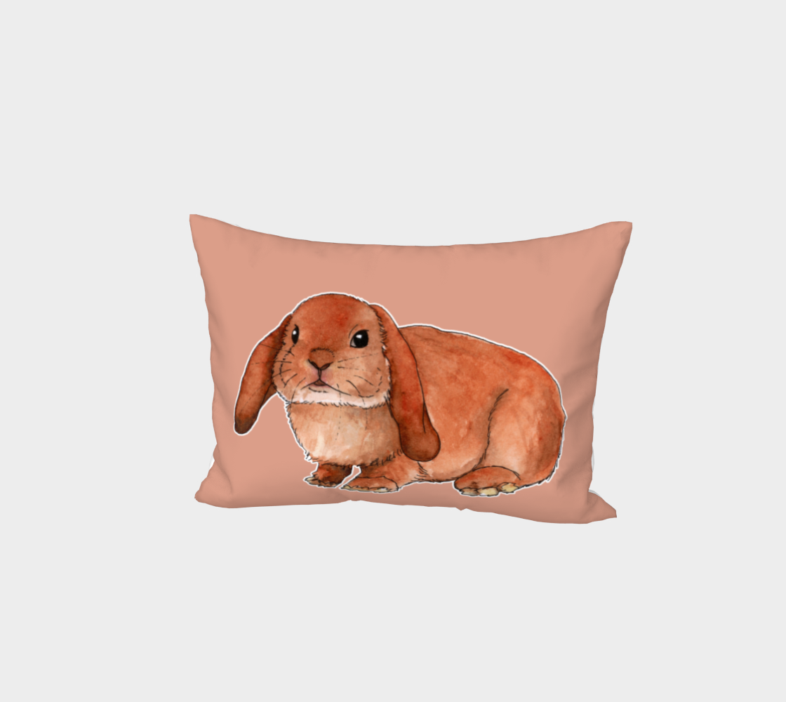 Red rabbit ram Bed Pillow Sham preview