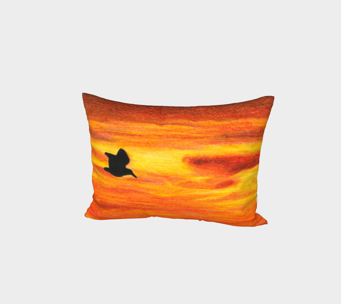 Sunset with bird Bed Pillow Sham preview