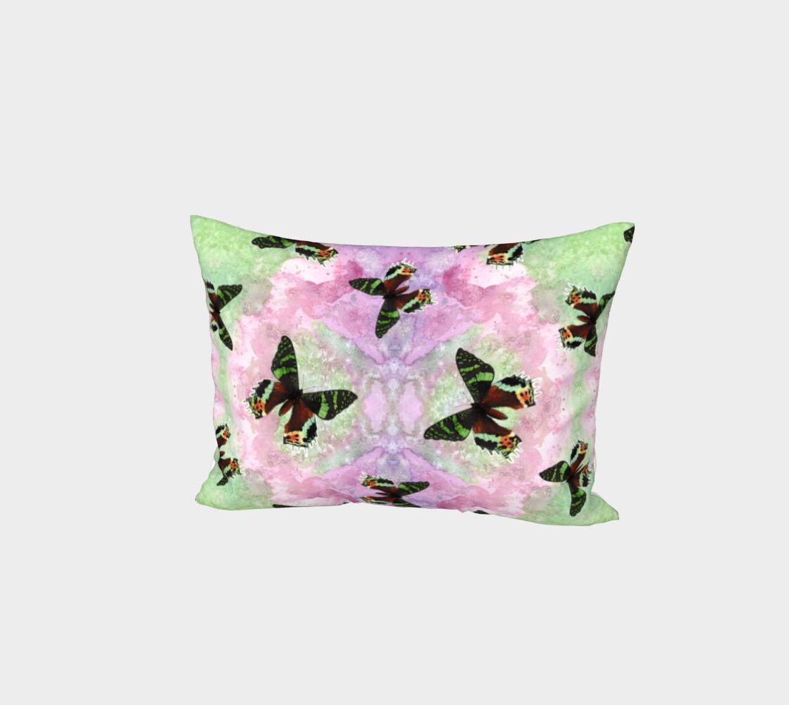 Urania Ripheus butterflies pattern Bed Pillow Sham preview