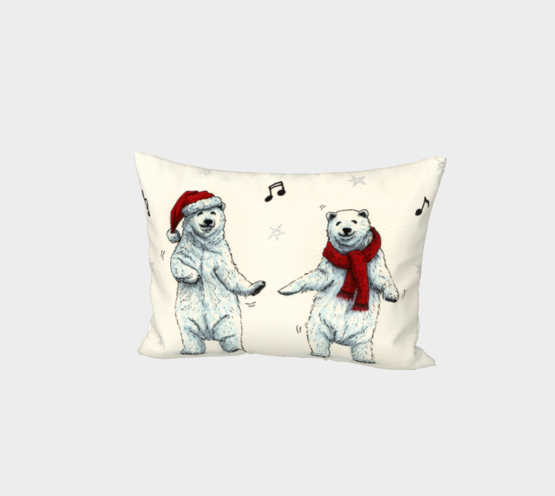 The polar bears wish you a Merry Christmas Bed Pillow Sham preview