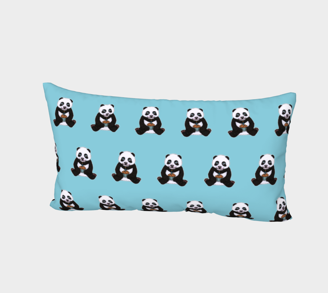 Baby panda's birthday pattern Bed Pillow Sham preview #2