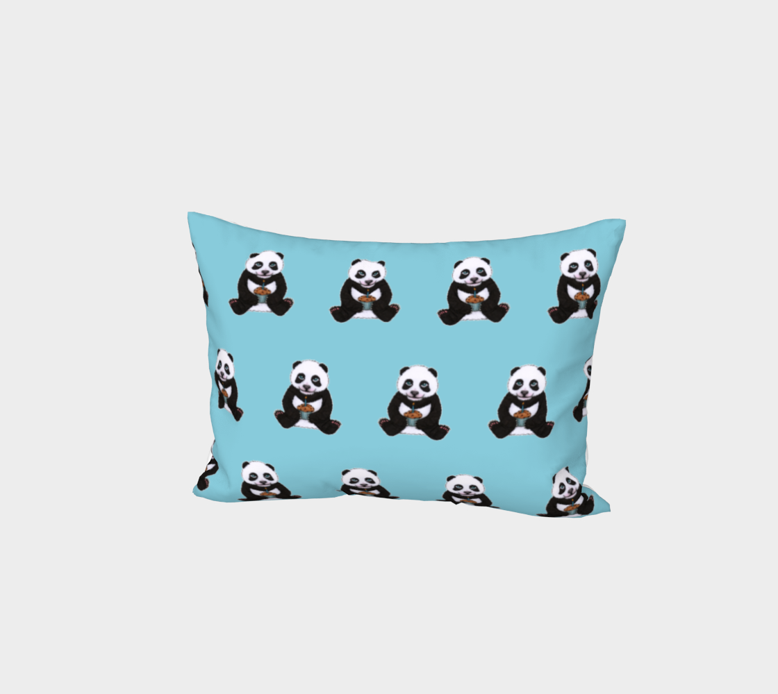 Baby panda's birthday pattern Bed Pillow Sham preview
