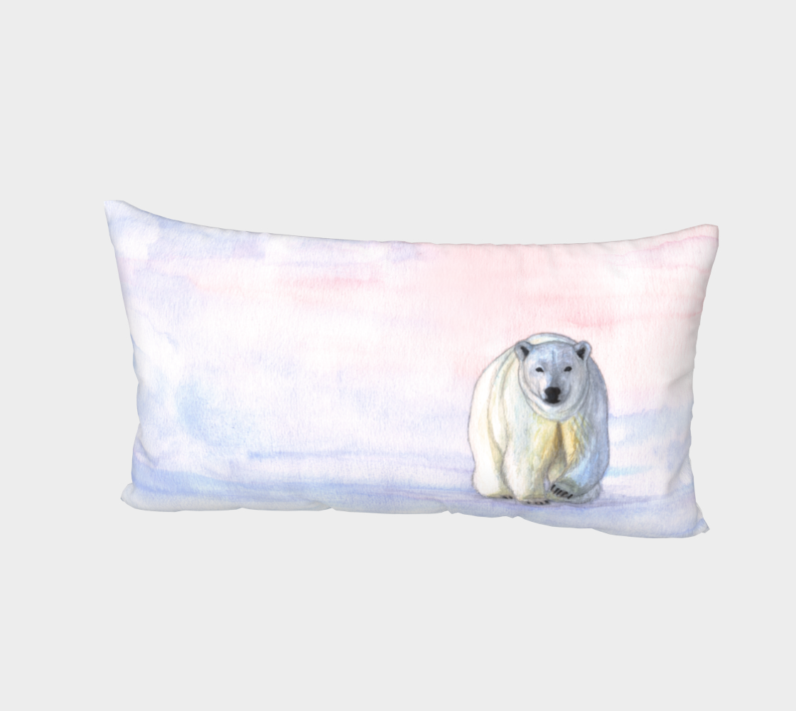 Polar bear in the icy dawn Bed Pillow Sham preview #2