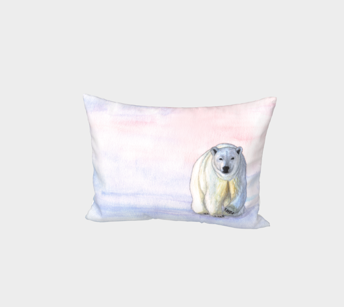 Polar bear in the icy dawn Bed Pillow Sham preview #1