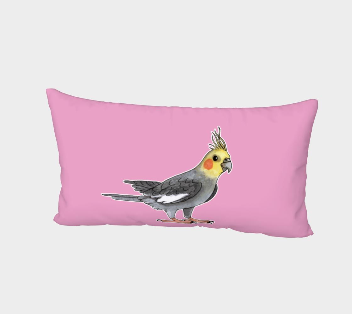 Cockatiel bird Bed Pillow Sham preview #2