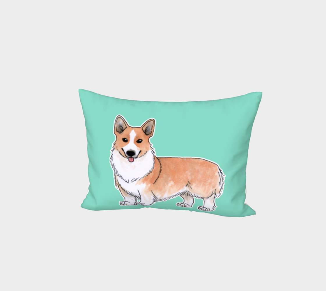 Welsh corgi dog Bed Pillow Sham aperçu