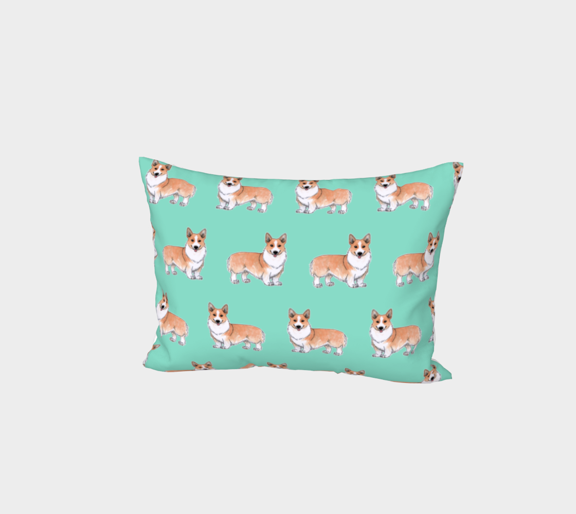 Welsh corgi dogs pattern Bed Pillow Sham preview #1