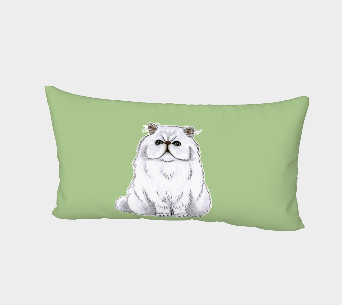 Persian cat Bed Pillow Sham preview #2