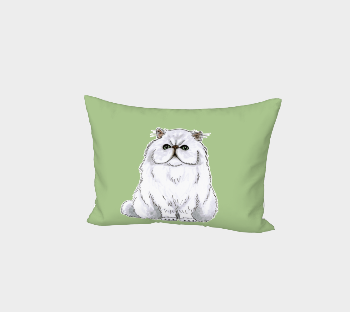 Persian cat Bed Pillow Sham preview #1
