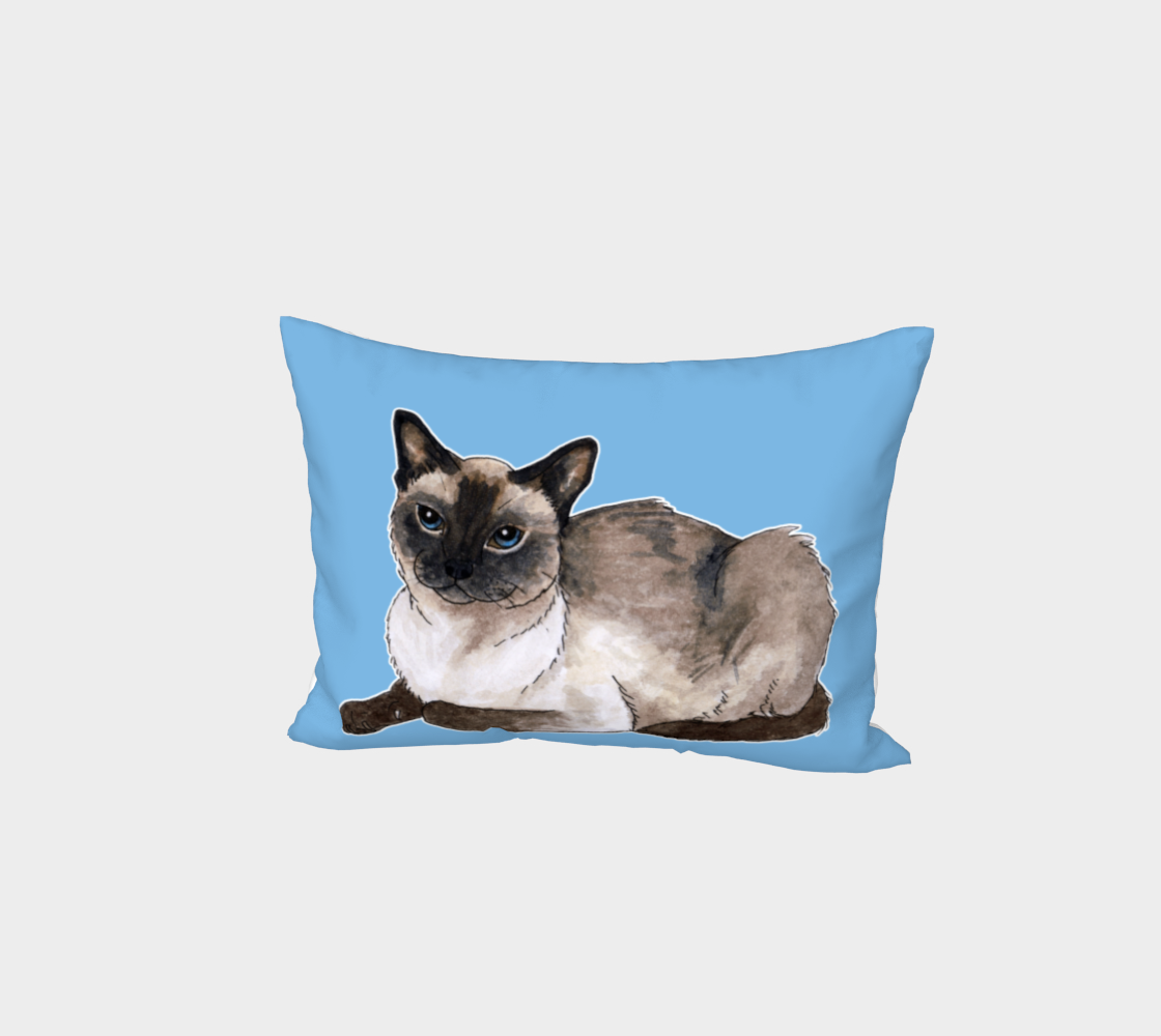 Siamese cat Bed Pillow Sham preview
