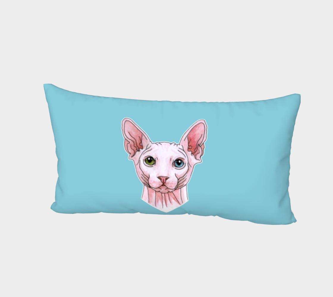Aperçu de Sphynx cat portrait Bed Pillow Sham #2