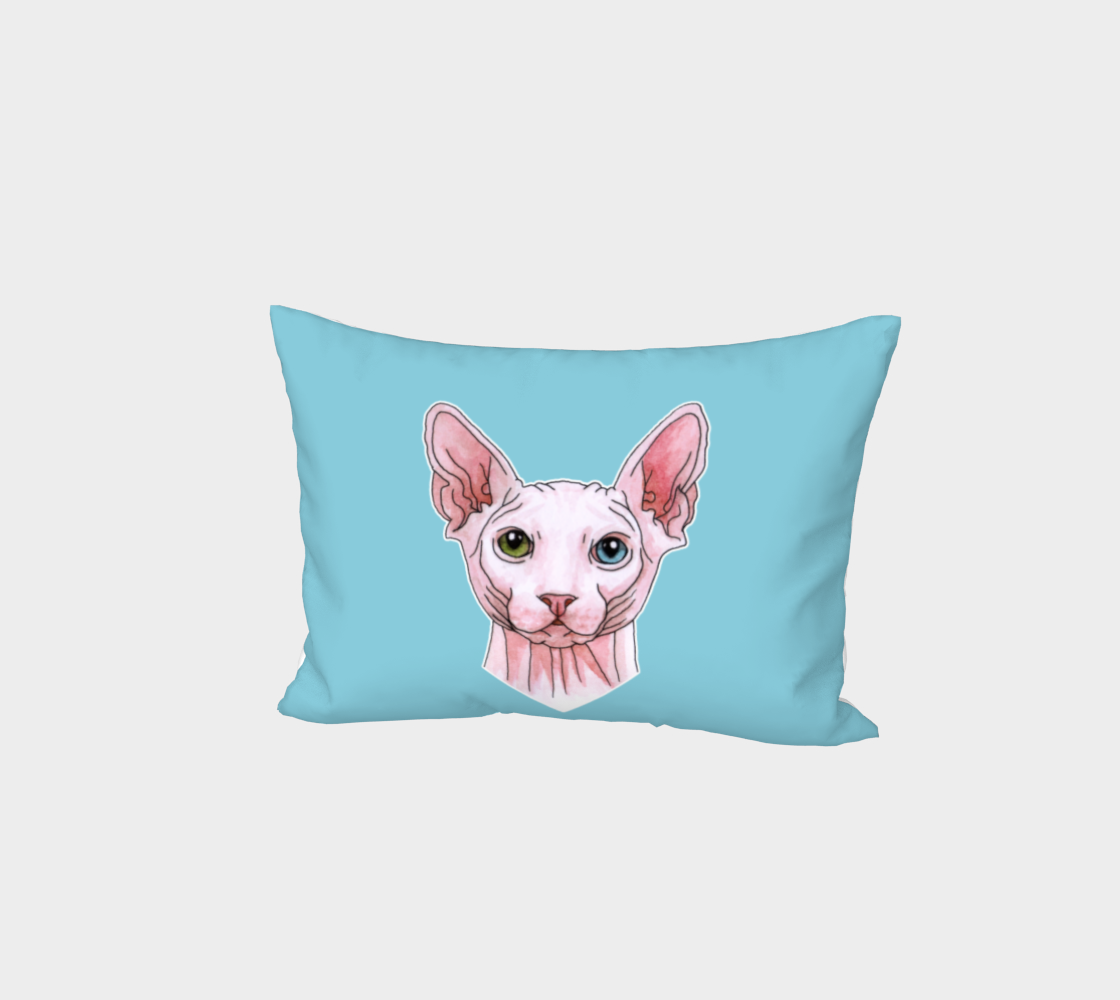 Sphynx cat portrait Bed Pillow Sham aperçu