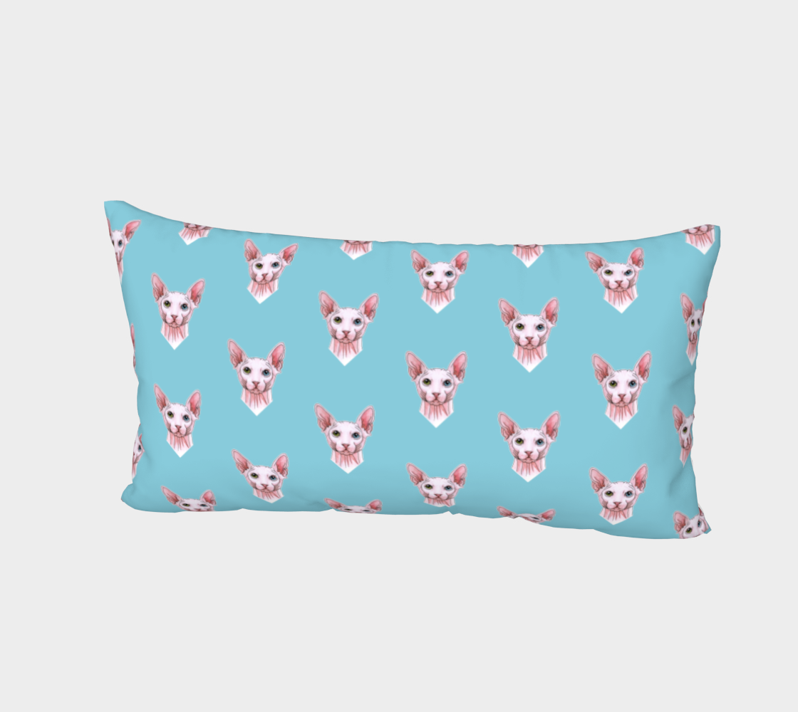 Sphynx cats pattern Bed Pillow Sham preview #2