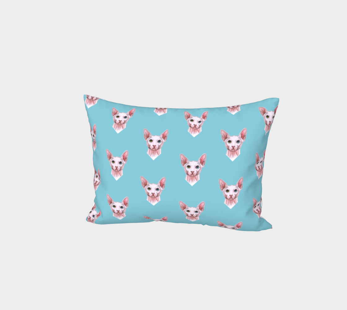 Sphynx cats pattern Bed Pillow Sham preview #1