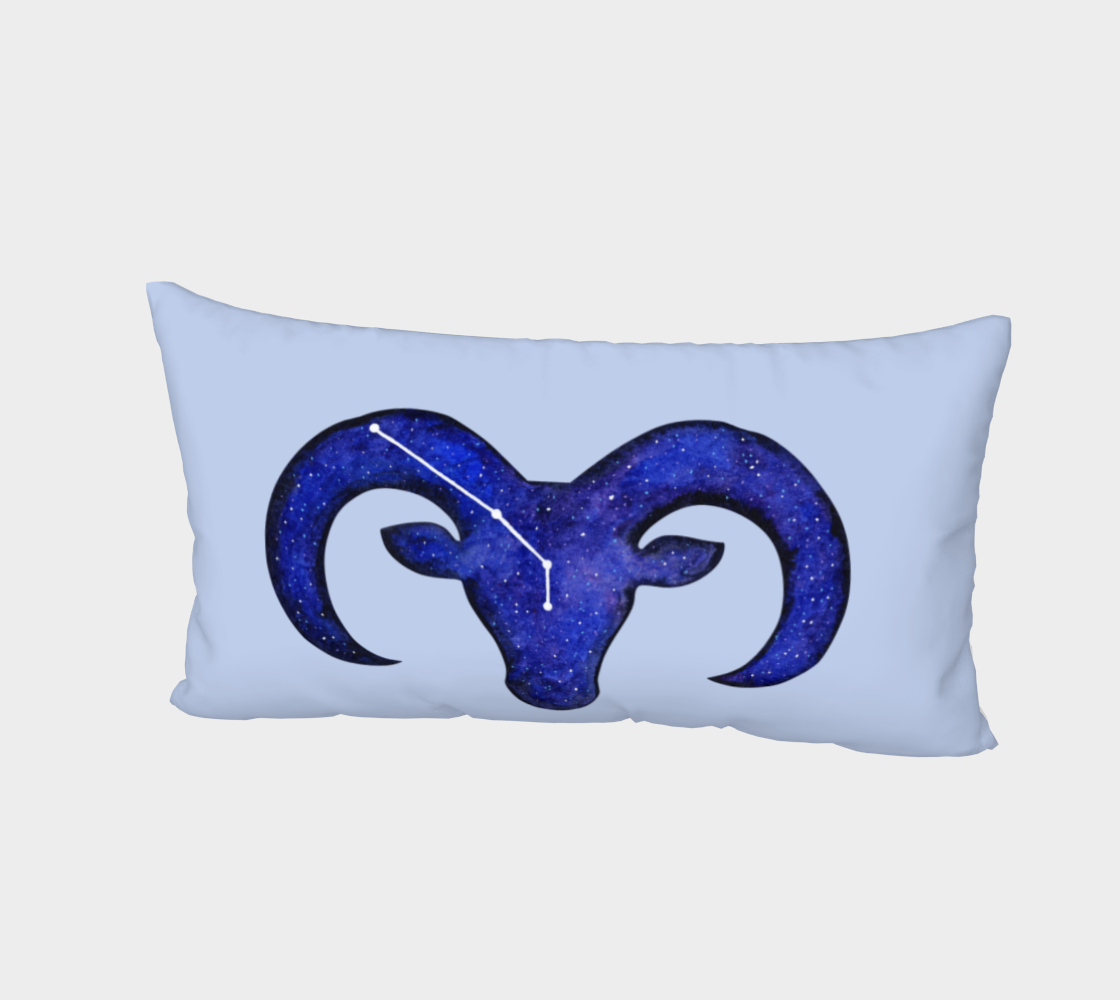 Aperçu de Astrological sign Aries constellation Bed Pillow Sham #2