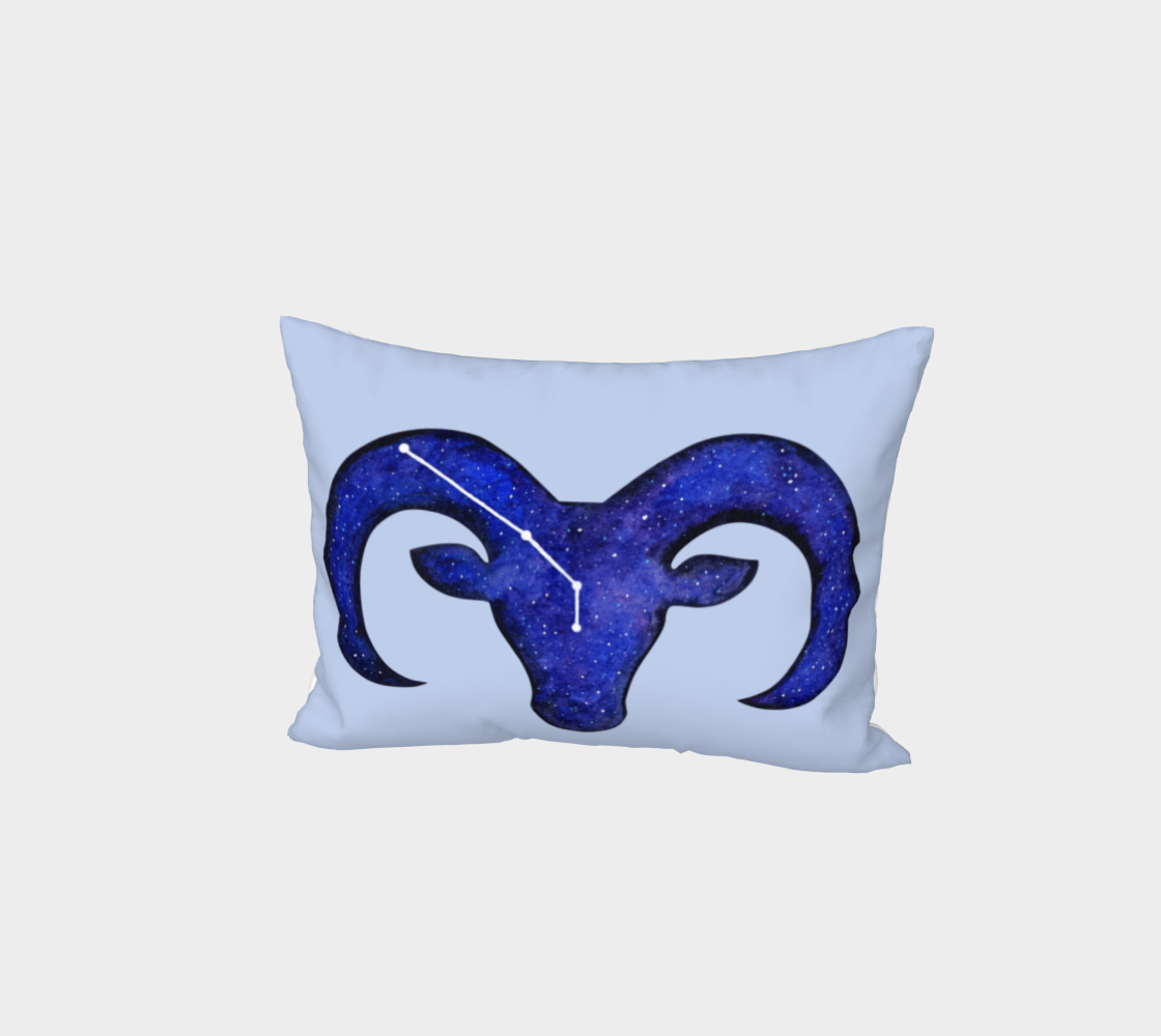Aperçu 3D de Astrological sign Aries constellation Bed Pillow Sham