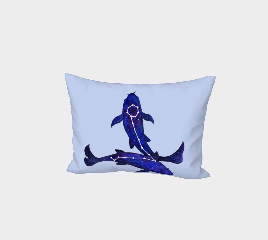 Astrological sign Pisces constellation Bed Pillow Sham preview #1