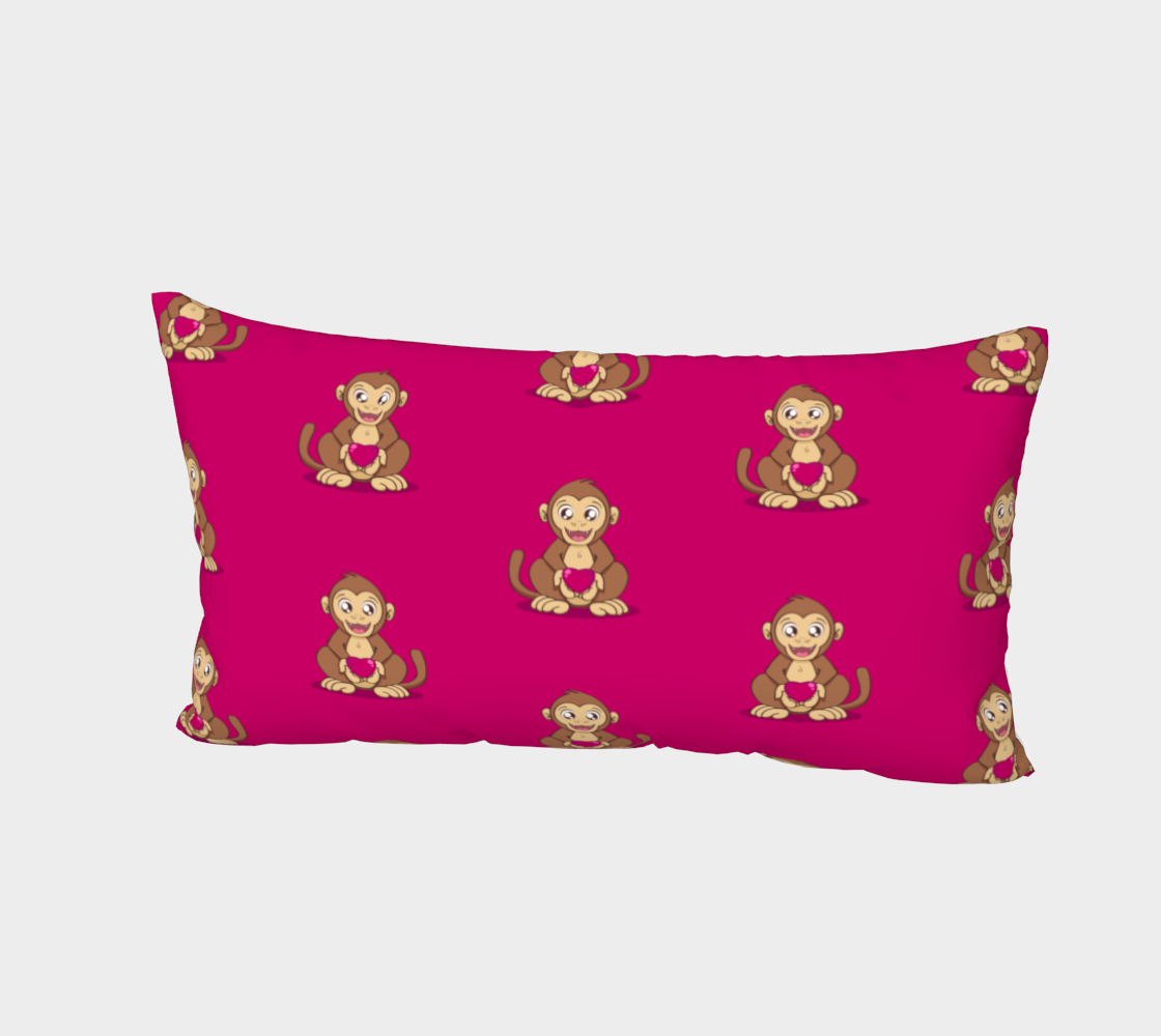 Monkey love pattern Bed Pillow Sham preview #2