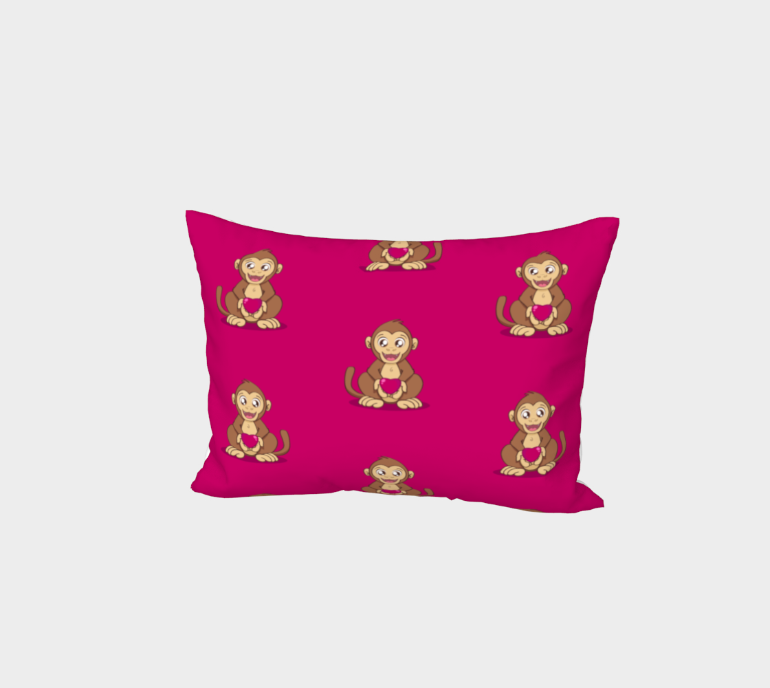 Monkey love pattern Bed Pillow Sham preview