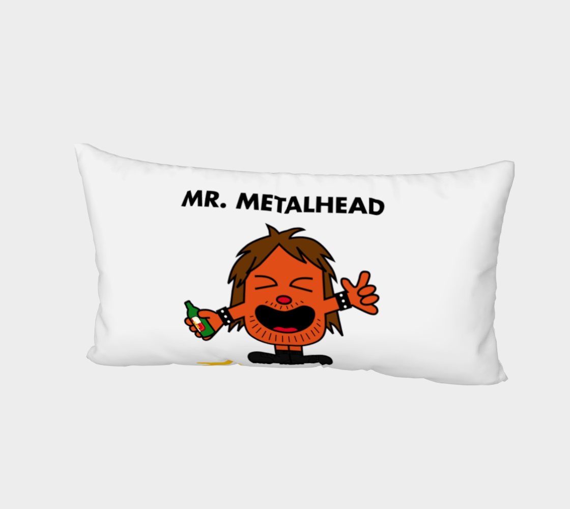 Mr. Metalhead Bed Pillow Case preview #2