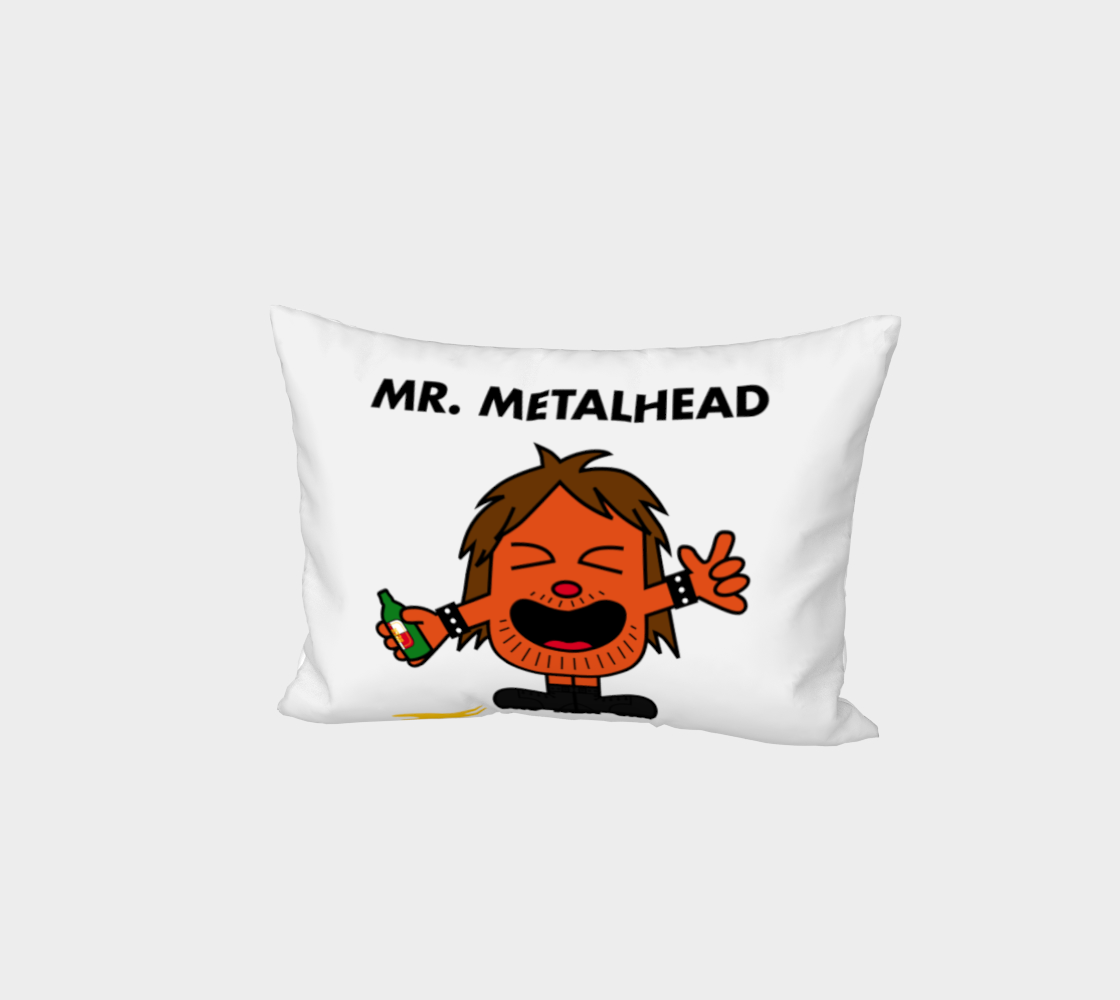 Mr. Metalhead Bed Pillow Case preview