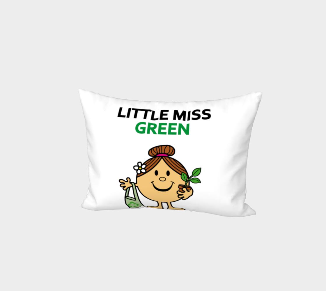 Little Miss Green Bed Pillow Sham preview