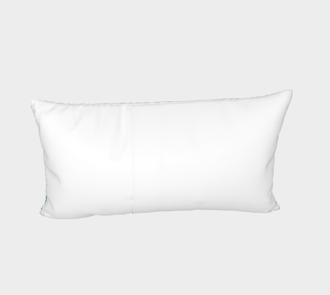 Ombré green and white swirls doodles Bed Pillow Sham preview #4