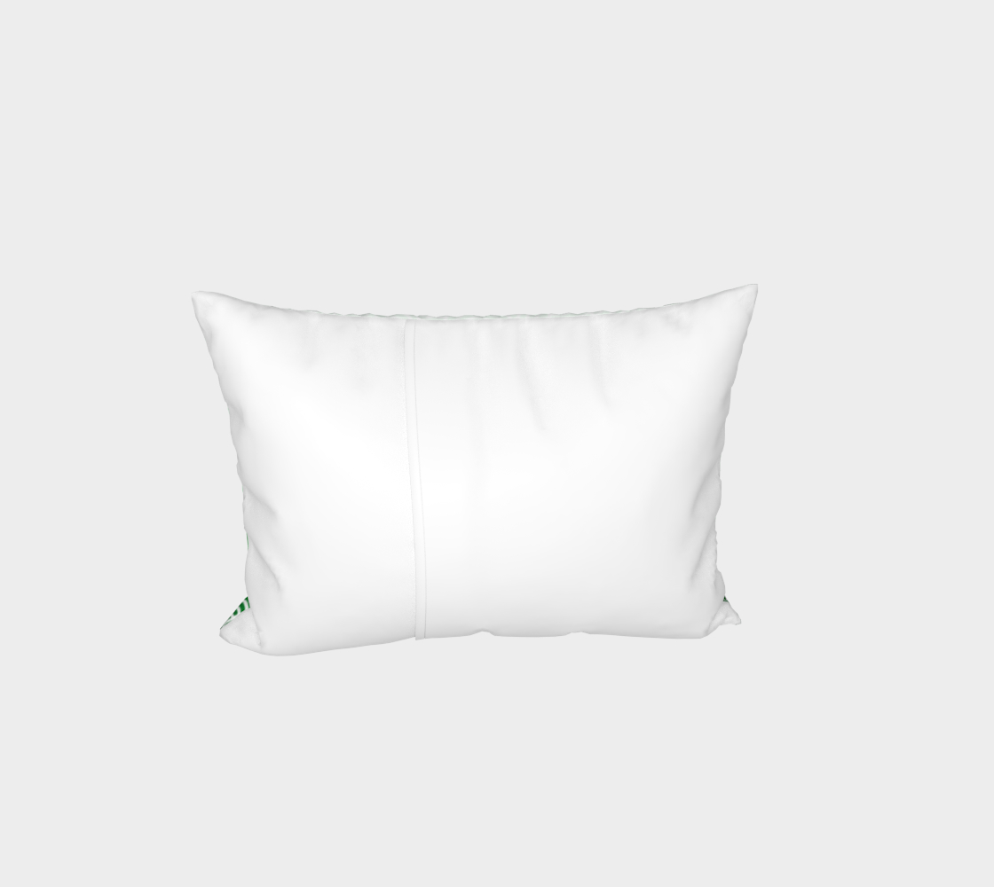 Ombré green and white swirls doodles Bed Pillow Sham preview #3