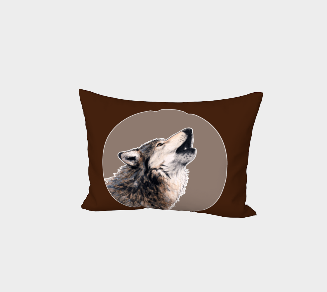 Grey wolf Bed Pillow Sham preview