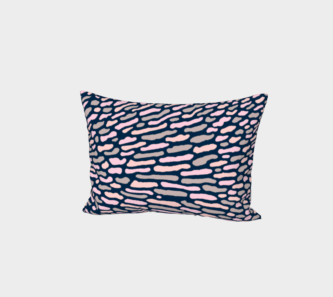Organic Abstract - Navy Blue Bed Pillow Sham preview