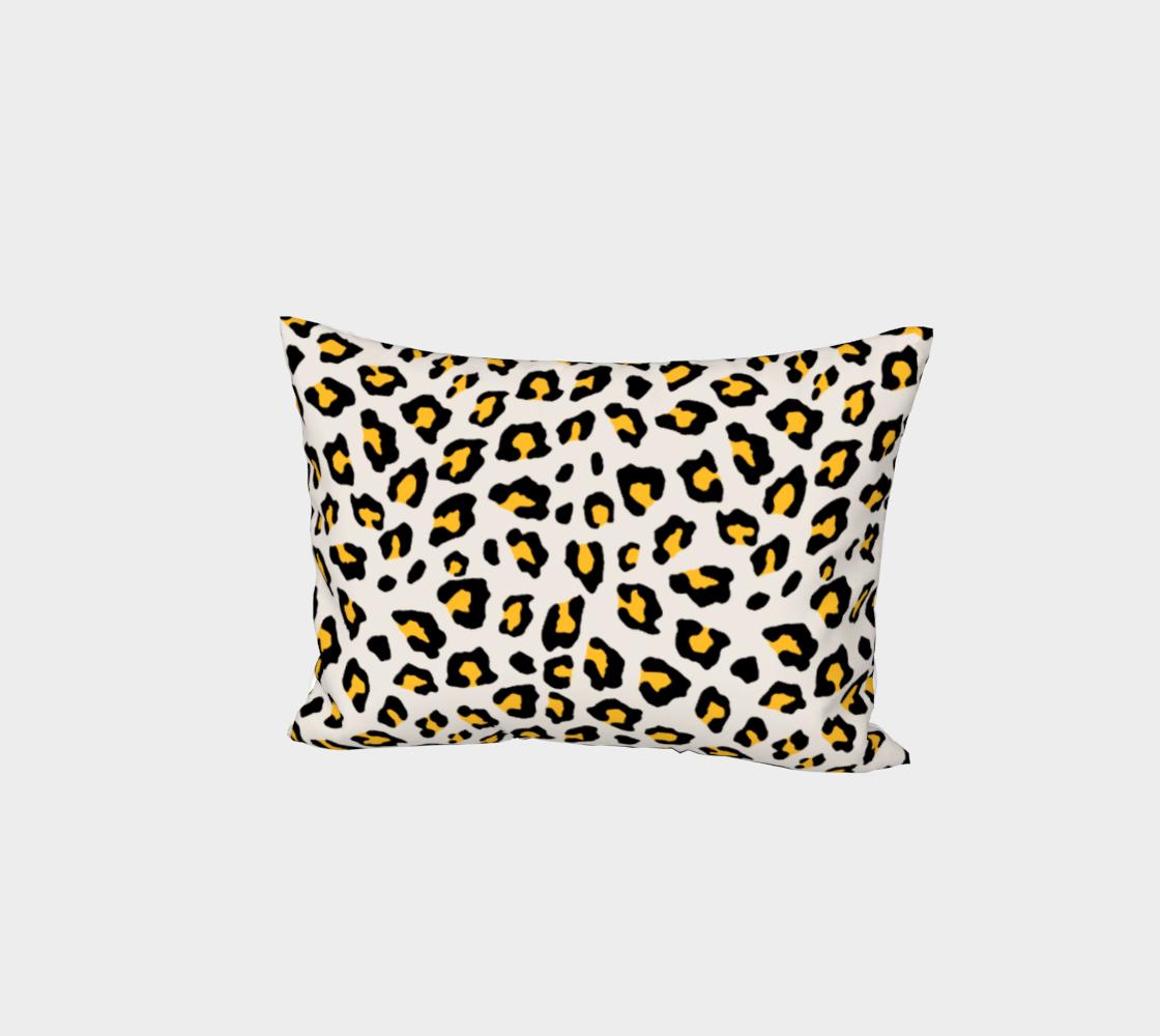 Leopard Print - Mustard Yellow Bed Pillow Sham preview