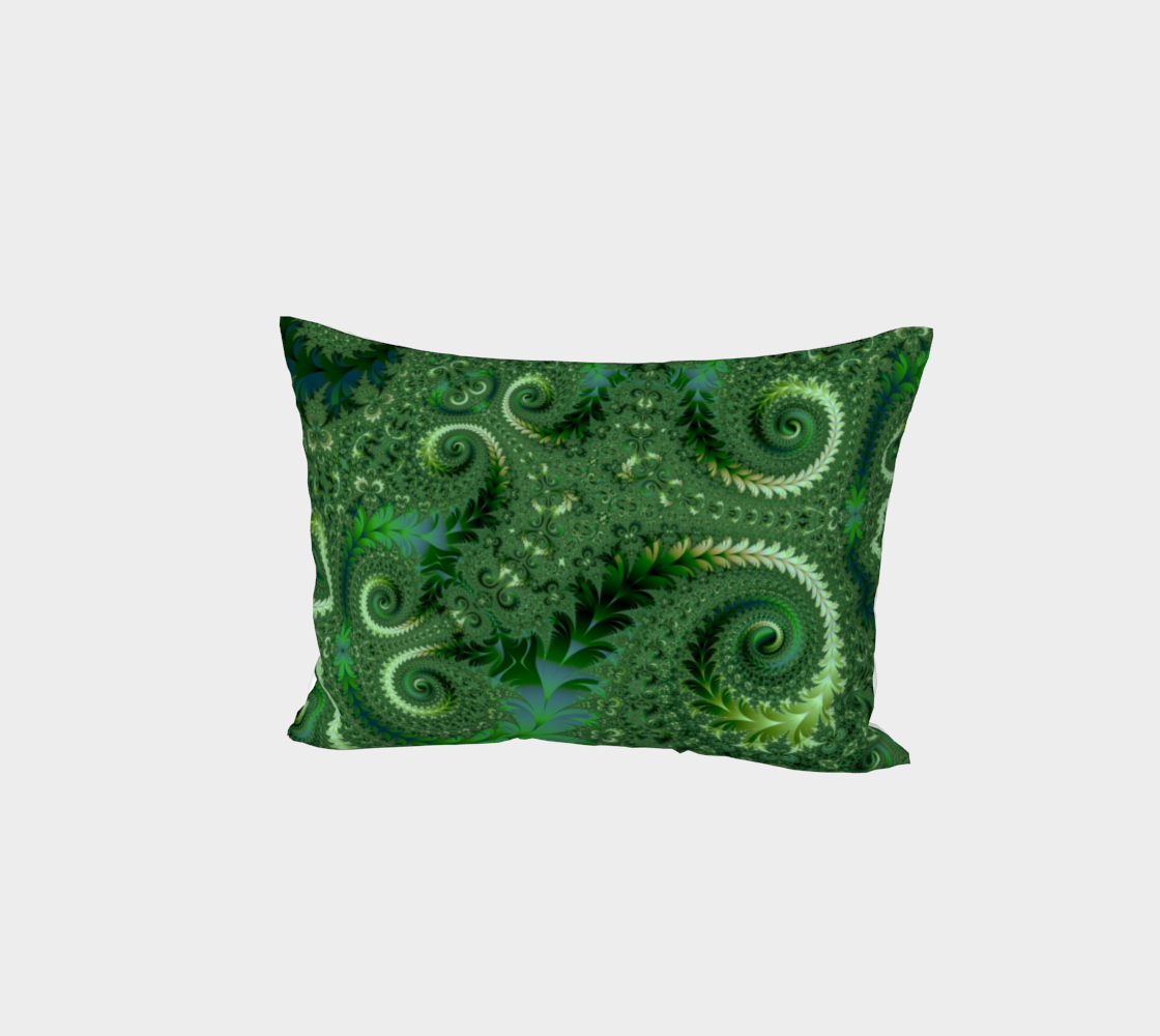 Decorative Green Fern Garden Spirals Pattern preview