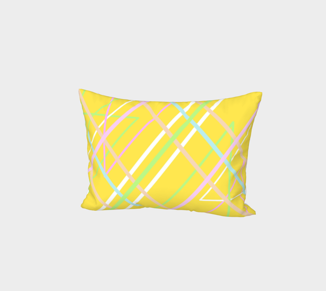 Pillow Sham *Yellow Criss Cross* preview