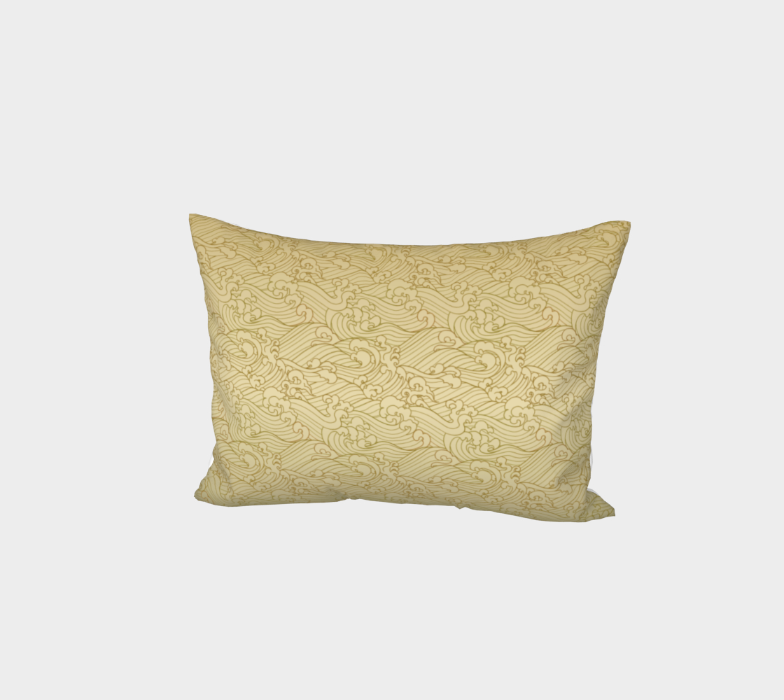 Golden Waves in Golden Bed Pillow Sham preview