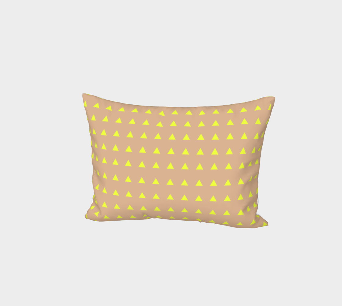 Neon Triangles - Yellow Bed Pillow Sham preview